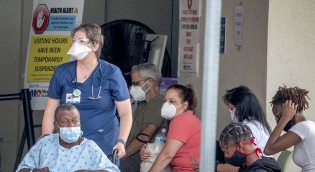 Florida'daki 48 sağlık kurumunun yoğun bakım servisinde yer kalmadı