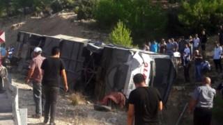 Mersin'deki otobüs kazasında 5 asker şehit oldu!