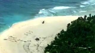 Adada mahsur kalan 3 denizciyi 'S.O.S.' kurtardı