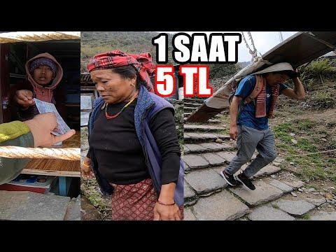 Bakın Yiyeceklerini Dağda Nasıl Taşıyorlar !! (NEPAL-HİMALAYA) ~276